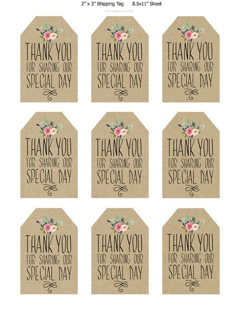 free printable gift tags for wedding favors wedding thank you gift tags template imbusy for