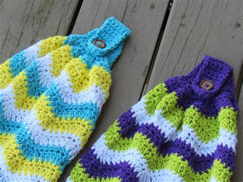 Crochet Kitchen Towel by Crochet Dreamz Chevron Kitchen Towel Free Crochet Pattern