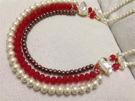 how to make necklace diy beaded necklace pearl jewelry