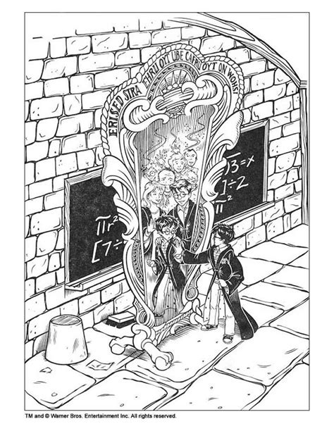 harry potter coloring pages sorcerer harry potter and the magic mirror coloring pages