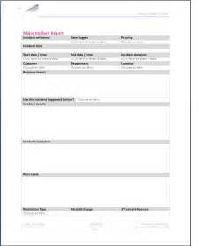 itil incident report form template vawns murphy enabling service management major incident