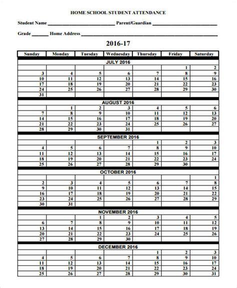 attendance calendar template 41 free calendar templates