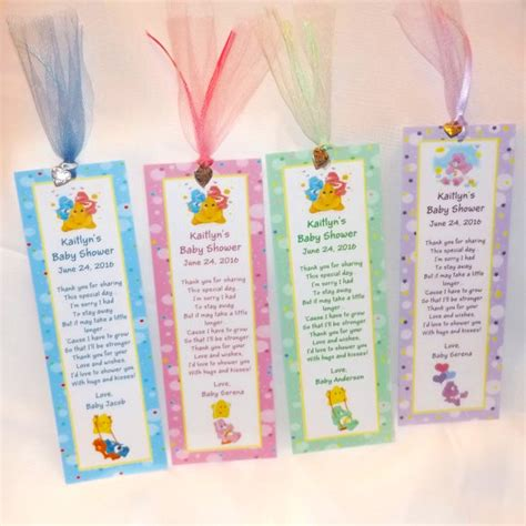 care baby shower supplies care bears baby shower bookmark favors