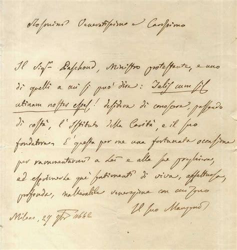 lettere di manzoni libreria gozzini autografi e lettere
