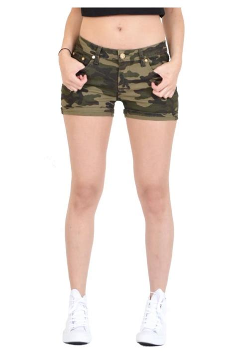 Hotpants Hotpant Army womens camo army style stretch