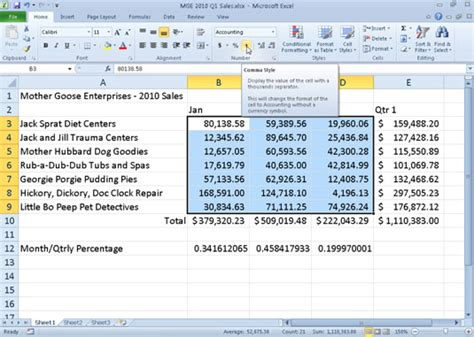 format html number comma working with the comma style in excel 2010 dummies