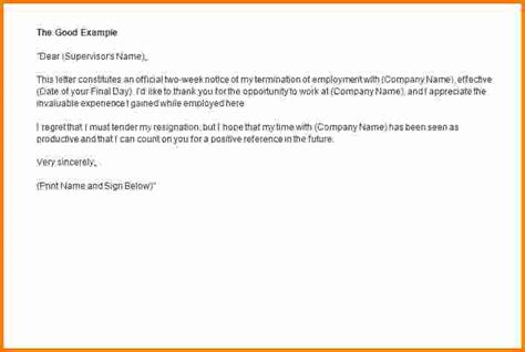 Resignation Letter Cashier 8 resignation letter sle 2 weeks notice cashier resume