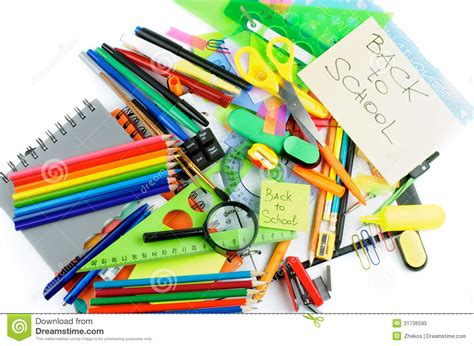printable stationery items back to school stock image image of multi fluorescent