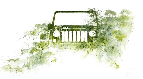 jeep art jeep wrangler watercolor photo jeep art by melissa