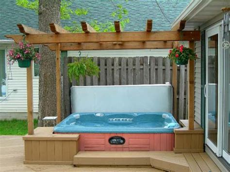 hot tub backyard ideas backyard patio ideas with hot tub landscaping
