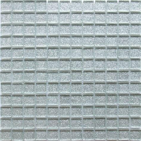 gaun brokat tile glitter premium glitter silver glass mosaic tiles