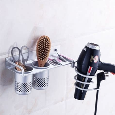 hair dryer caddy bathroom organizer aliexpress com buy space aluminum shelf storage