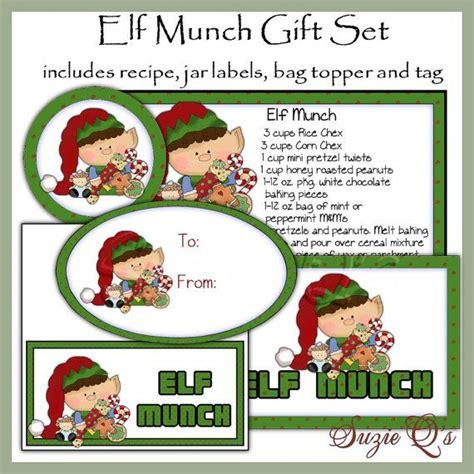 printable christmas jar toppers elf munch gift set jar labels bag topper tag and