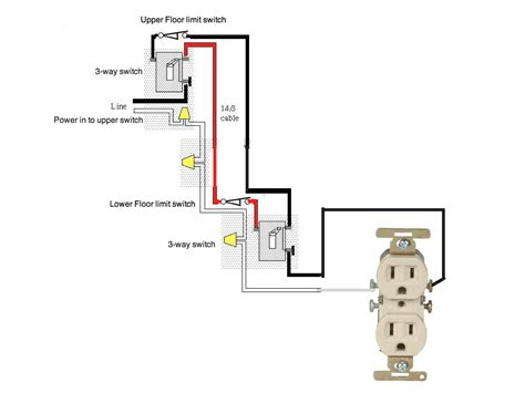 120 volt switch wiring i a two floor 120 volt hoist system which has