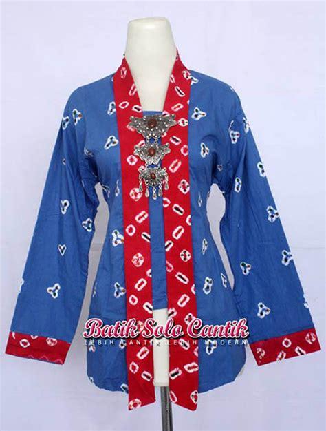 Kain Batik Motif Jumputan Series Biru Dan Embos Batik Ori Pekalongan model kebaya kartini muslim baju kerja batik