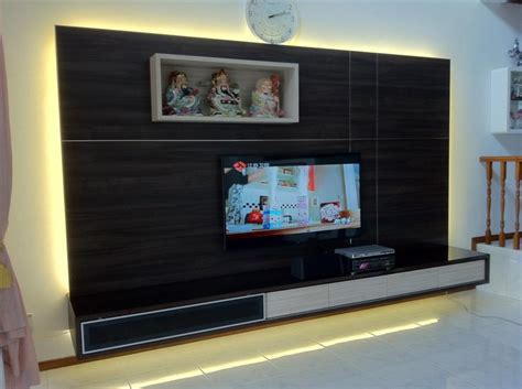 3d Flooring tv console tv feature wall simple closet s pte ltd