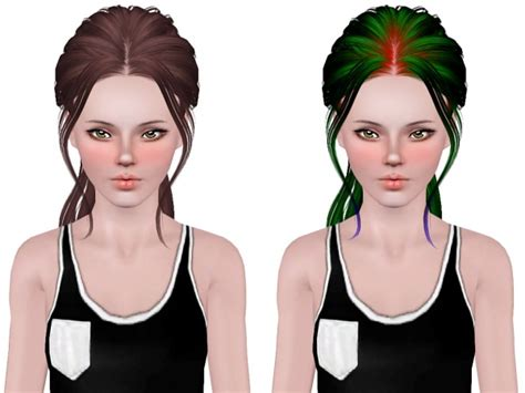 small ponytail hairstyle 228 by skysims sims 3 hairs the sims 3 skysims 201 hairstyle retextured by neiuro