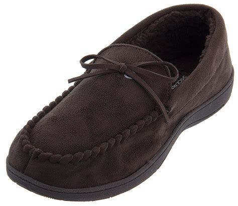 dockers mens slippers dockers brown moccasin slippers for