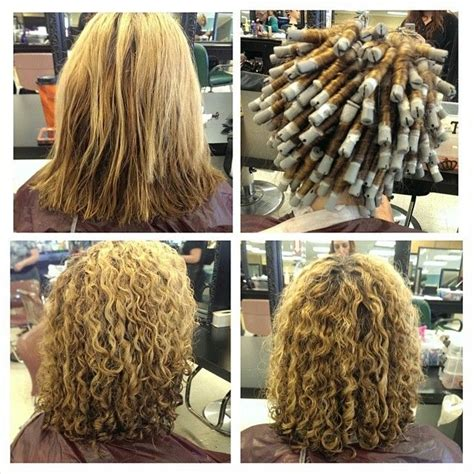 before and after of perms on thin hair before during and after spiral perm curly hair perms