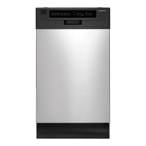 dishwasher home frigidaire 18 in front control dishwasher in stainless