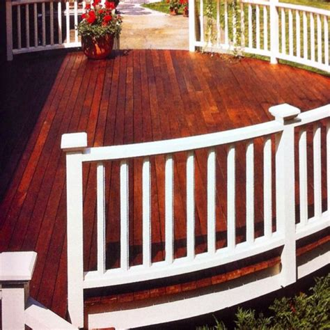 painted railings  stained decking hit  deck