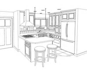 How To Draw Kitchen Cabinets Line Drawings Of Kitchen Cabinet Sketch Coloring Page