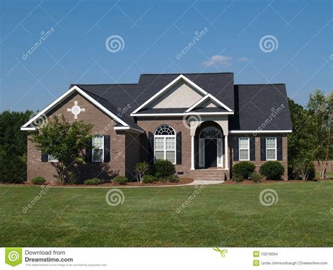 one story one story brick residential home stock images image