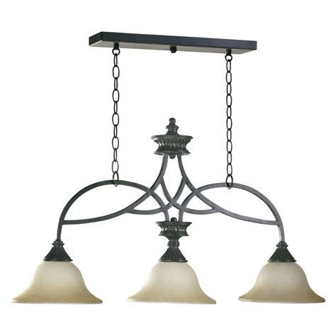 Wrought Iron Island Lighting Quorum International 6319 3 95 World Wrought Iron Three Light Island Billiard Fixture From