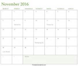 Kalender 2016 November Calendar November 2016 Editable Template Word Pdf