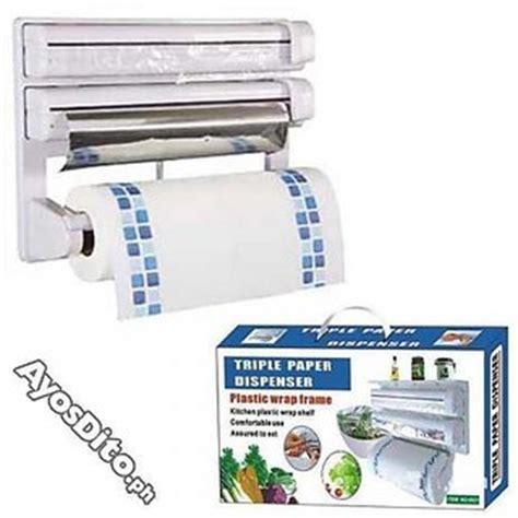 recommended film paper triple paper dispenser for cling film wrap aluminium foil