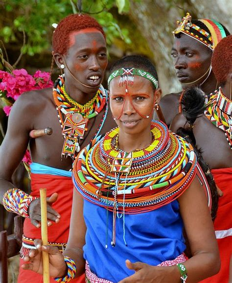 kenya ladiesfashion colourful maasai girl in traditional dress and beads at