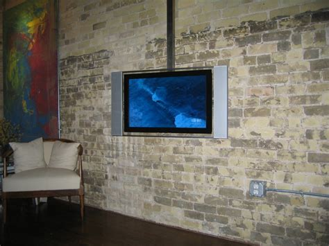 Tv Hung From Ceiling by Track Mount Tv Hanger 2 X 2 Quot Square Stainless Tubing
