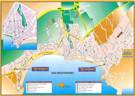 printable street map benidorm benidormtown com map of benidorm in the beginning