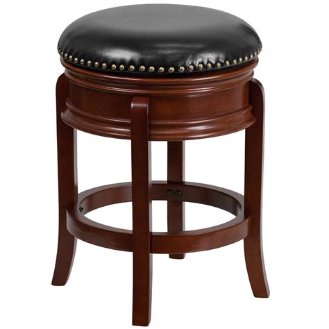 Bar Stools Ta by Flash Furniture Ta 68824 Lc Ctr Gg Light Cherry Wood Counter Height Stool With Black Leather