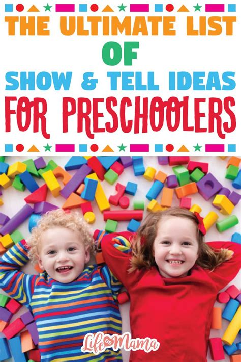 ideas for kindergarten show and tell the ultimate list of show tell ideas for preschoolers