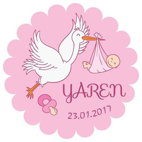 leylek baby shower kiz bebek sticker stickerimcom