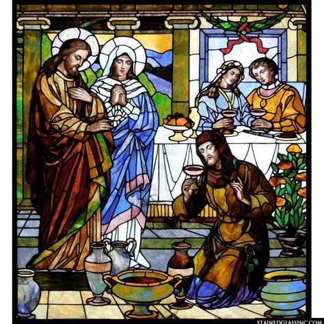Wedding At Cana Characters by Quot Wedding At Cana Quot Religious Stained Glass Window