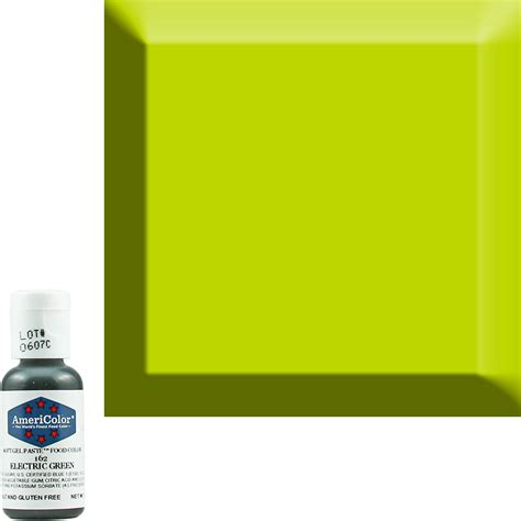 neon electric green americolor 174 soft gel paste food color