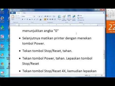cara reset printer canon mp258 error p08 cara mengatasi error kode p08 printer canon mp258 youtube