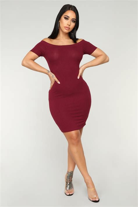 day ribbed dress burgundy dresses hot dress