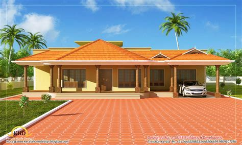 single floor ranch style homes kerala single floor home