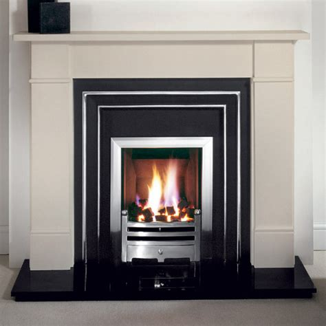 Brompton Limestone Fireplace by Gallery Brompton Fireplace With Hamilton Cast Iron