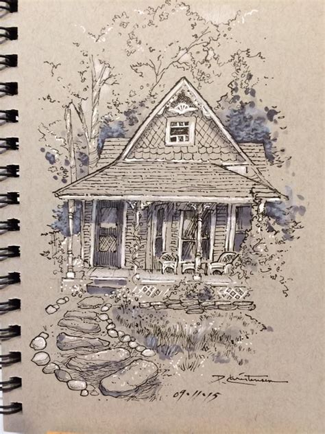 sketchbook toned paper the drawing on toned paper simple house shapes