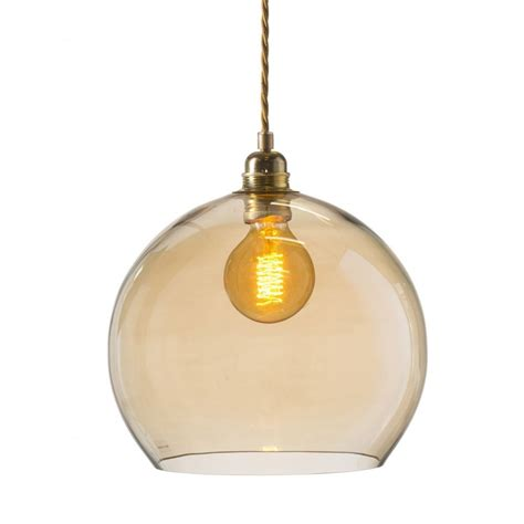 smoked glass pendant light globe ceiling pendant light in smoked golden glass on long