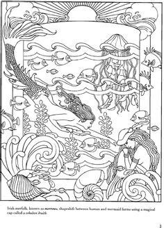 libro mermaids coloring book an mythical mermaids coloring book dover publications