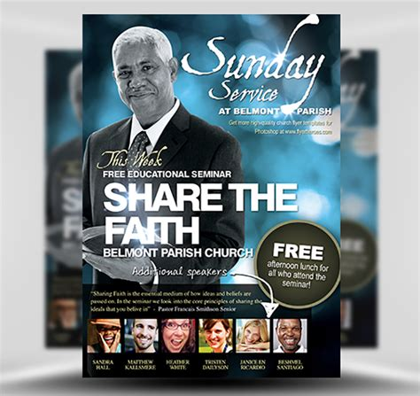 Share The Faith Christian Flyer Template Flyerheroes Christian Flyer Templates Free