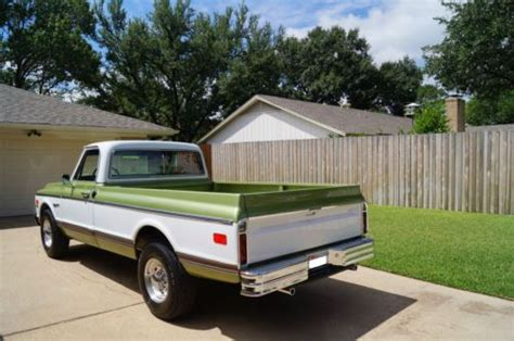 sell used 1971 chevy c20 custom deluxe in dallas