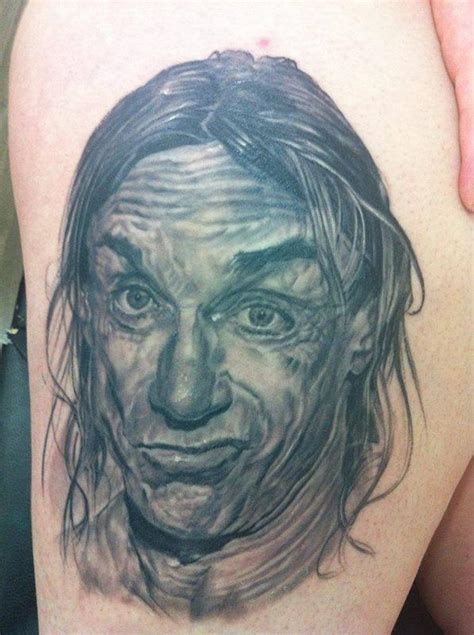 iggy tattoos iggy pop portrait by stefano cacciaconti tattoonow