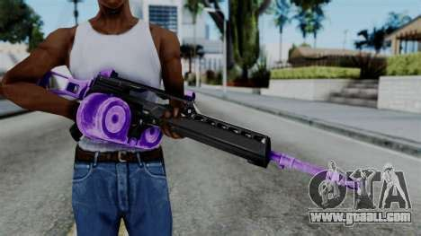 purple m4 for gta san andreas
