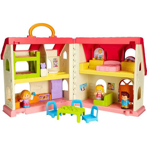 fisher price little people dolls house fisher price little people ice cream shop play set walmart com